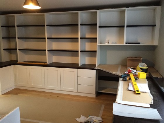 Erica James'  new study being built